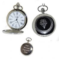 Scottish Pocket Watch Roman Numerals Quartz